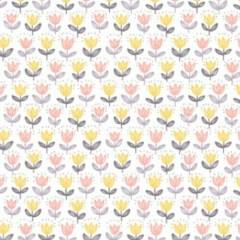 kacik-niemowlaka-tapeta-motyw-kwiatow