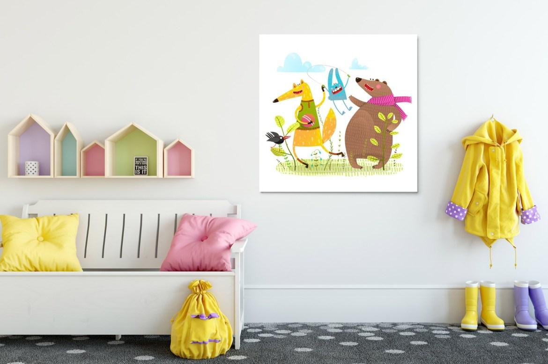 kolorowy obraz do pokoju dziecięcego