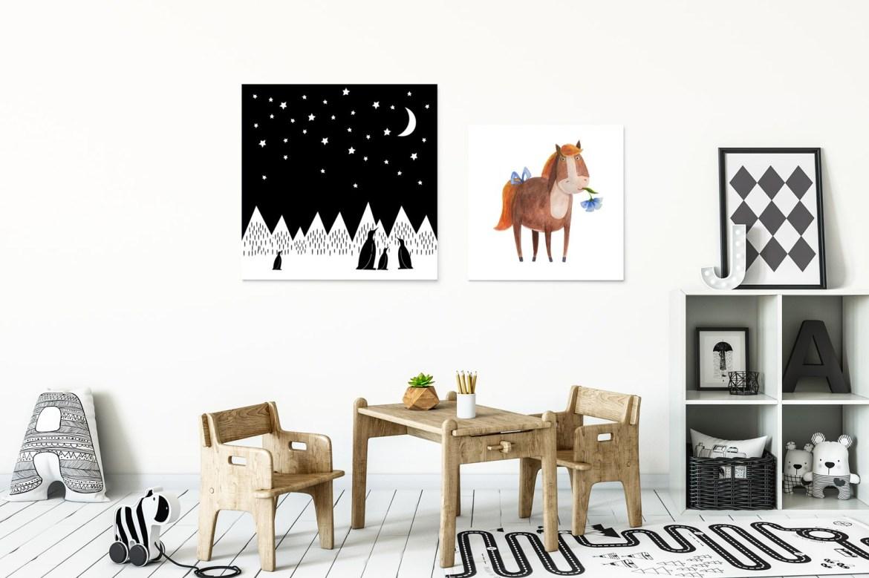 skandynawski styl plakatów do pokoju dziecka