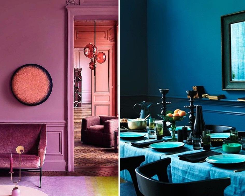 mieszkanie w jednym kolorze - koło barw i kolory do mieszkania