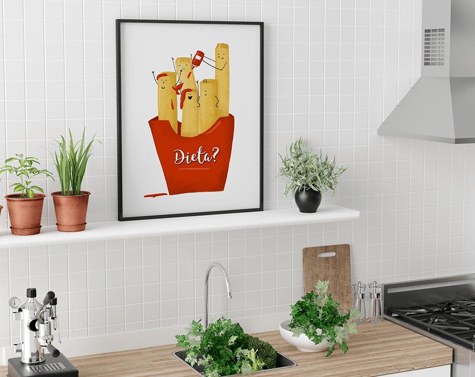 obrazy w ramie i dekoracje do kuchni na ściany