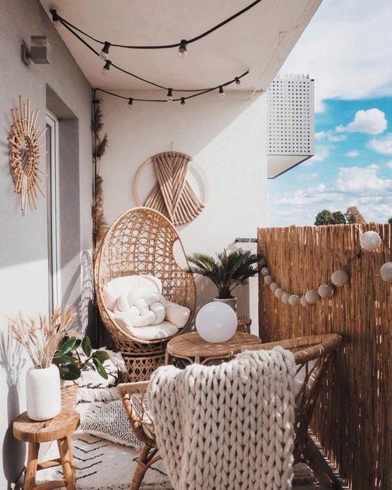 mieszkanie na lato balkon