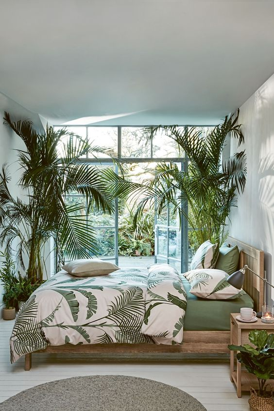 mieszkanie na lato motywy roślinne