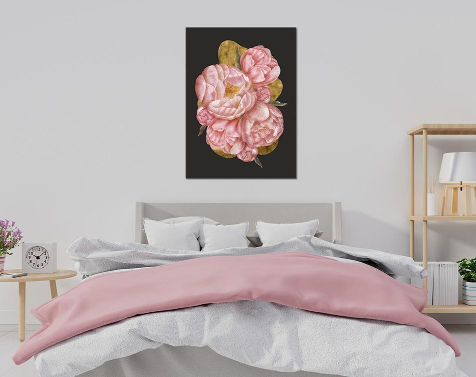 Plakat do sypialni z kwiatem