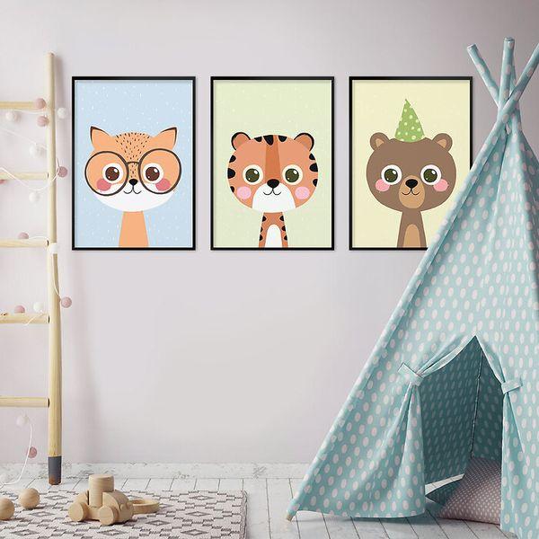 Galerie-ścienne-w-dziecięcym-pokoju-zwierzaczki