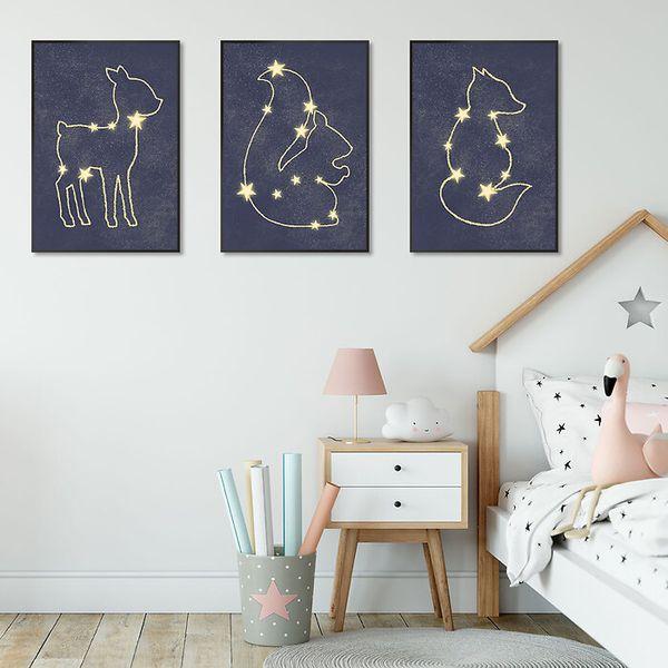 Galerie-ścienne-w-dziecięcym-pokoju-gwiazdozbiory
