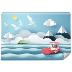 morski-krajobraz-dekoracja-scienna-do-pokoju-dzieciecego