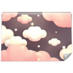 fototapeta-do-pokoju-dziewczynki-pastelowe-niebo