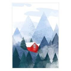 domek-w-gorach-dekoracja-na-sciane