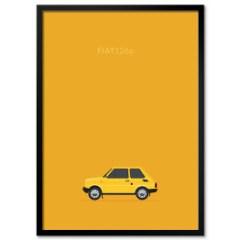 plakat-w-ramie-stare-samochody-fiat-126p-2021-pantone