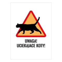 znak-drogowy-uwaga-koty-dekoracje-z-kocim-motywem