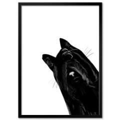 plakat-w-ramie-czarne-koty-minimalizm