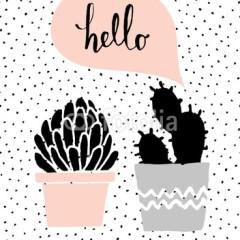 różowe-szare-doniczki-plakat-roślinny