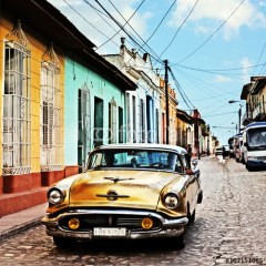 ulice-kuby-stare-auto-fototapety-retro