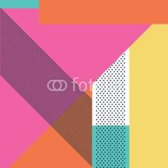 plakat-samoprzylepny-wzory-geometryczne-living-coral-kolor-roku-2019