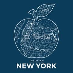 jabłko-plan-nowego-jorku-obraz