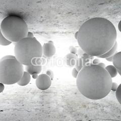 Betonowe kule geometryczne 3D