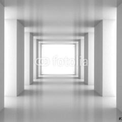 bialy-korytarz-fototapeta-3d