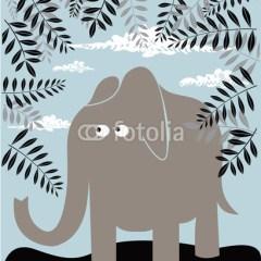 ilustracja-słoń-dekoracje-dla-dzieci