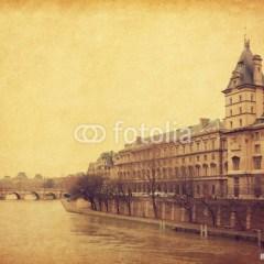 paryz-pont-neuf-fototapety-retro