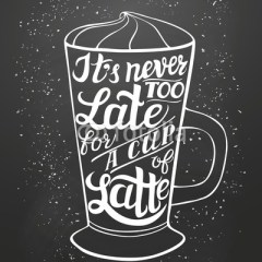 biało-czarna-typografia-kawa-latte