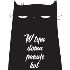 czarny-kot-plakat-w-ramie-do-przedpokoju