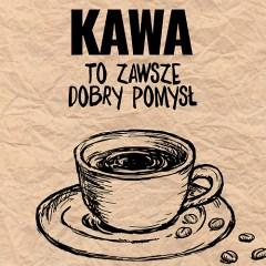 typografia-z-kawą-plakat-na-ścianę