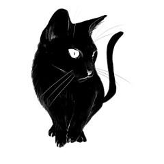 czarno-bialy-kot-plakat-dekoracja-na-sciane