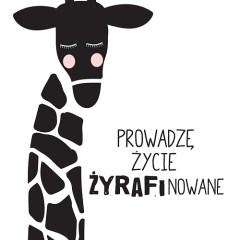 żyrafa-typografia-motywacyjna-plakat-na-ścianę