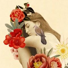 plakat-w-ramie-w-stylu-glamour-kobieta-kwiat-natura
