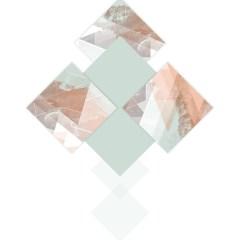 Ilustracja - pastelowe kwadraty na białym tle