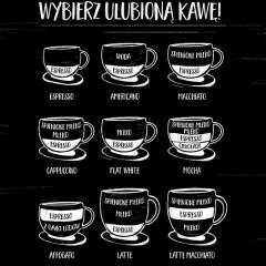 ulubiona-kawa-skład-biała-ilustracja-na czarnym-tle-magnes-dekoracyjny