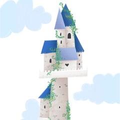 bajkowy-zamek-w-chmurach-plakat-do-pokoju-dziecka