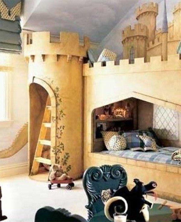castle theme bed design for your child's room