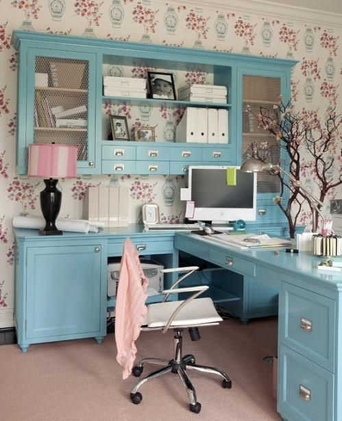 colored home office design