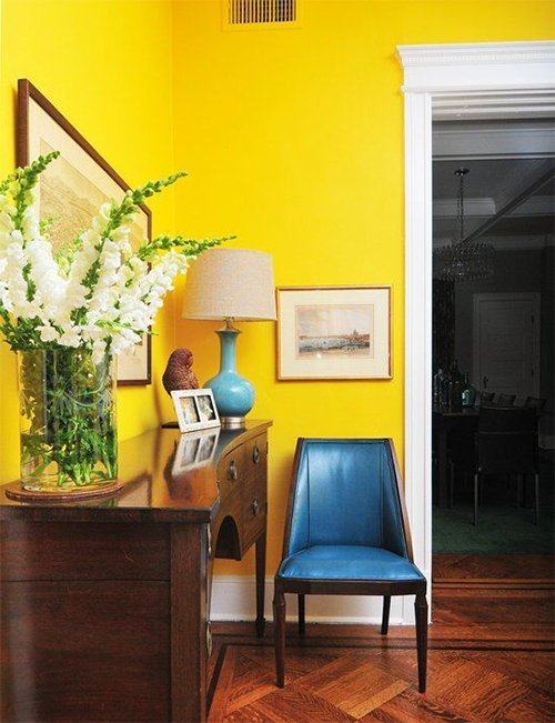 bright yellow small flat