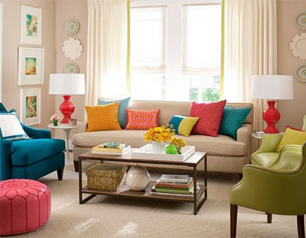 Useful Ideas on How to Decorate Your Living Room on Colourful Living Room  id=69900