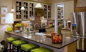 Italian Decorating Ideas For Kitchen With High Quality Wood Painted Brown Inspirational