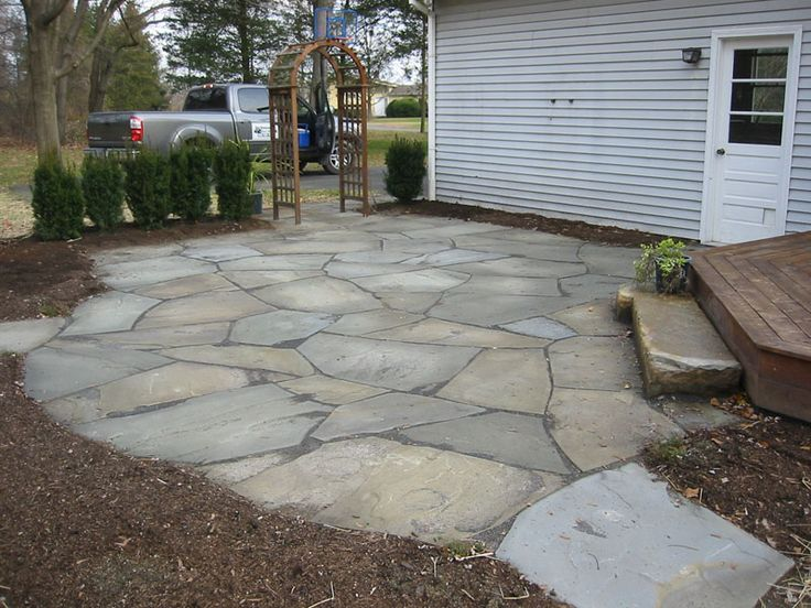 20 Exclusive Stone Patio Designs & Patterns Guide | Decor ... on Patio Stone Deck Ideas id=22862