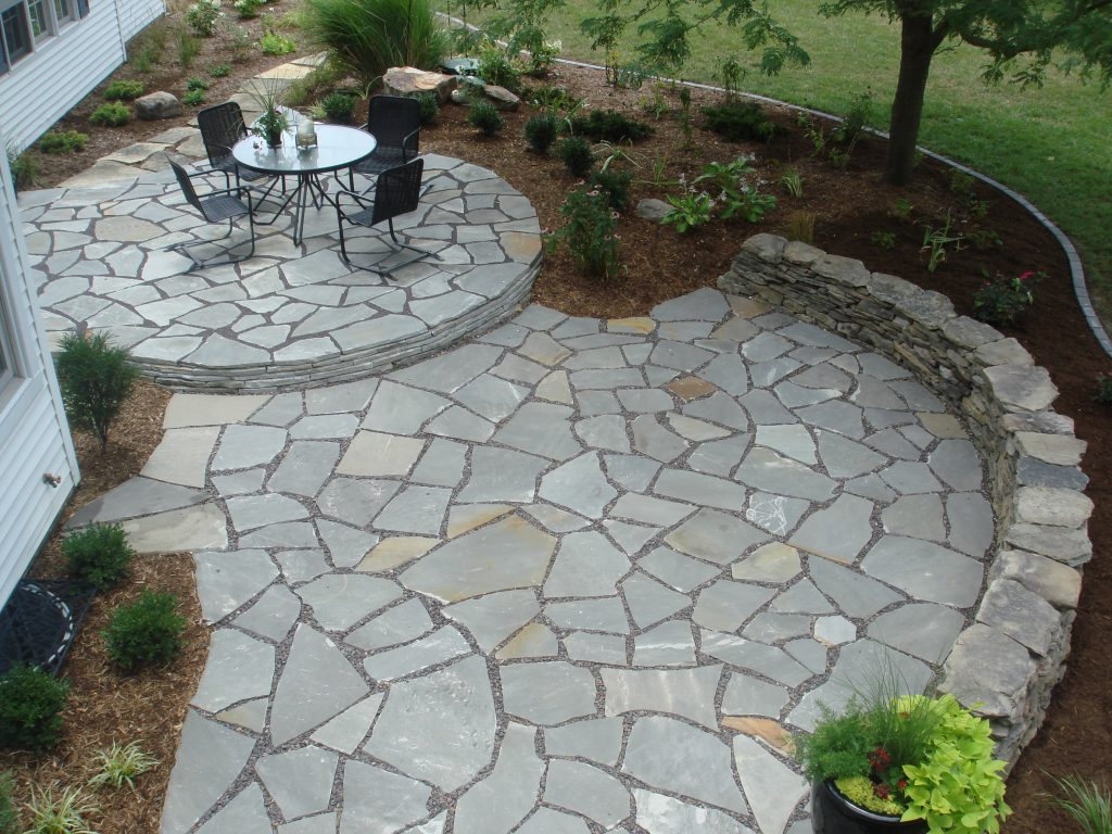 20 Exclusive Stone Patio Designs & Patterns Guide | Decor ... on Patio Stone Deck Ideas id=17802
