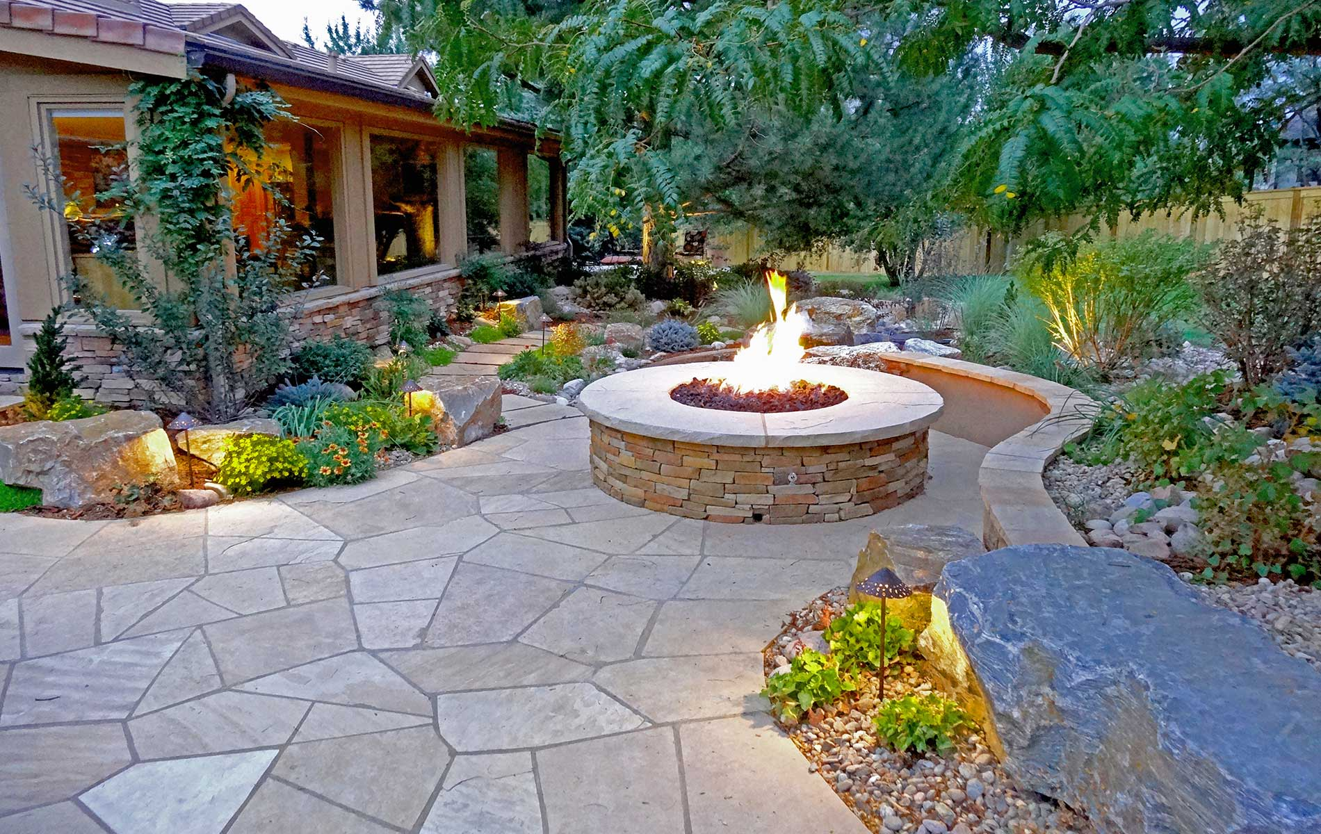 Best Stone Patio Ideas, Designs and Installation Tips ... on Rock Patio Designs  id=88028