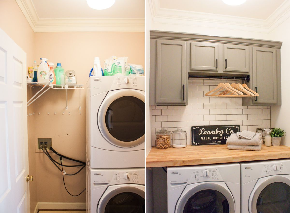 Inspiring Laundry Room Makeover Ideas With Amazing Results ... on Amazing Laundry Rooms  id=61333