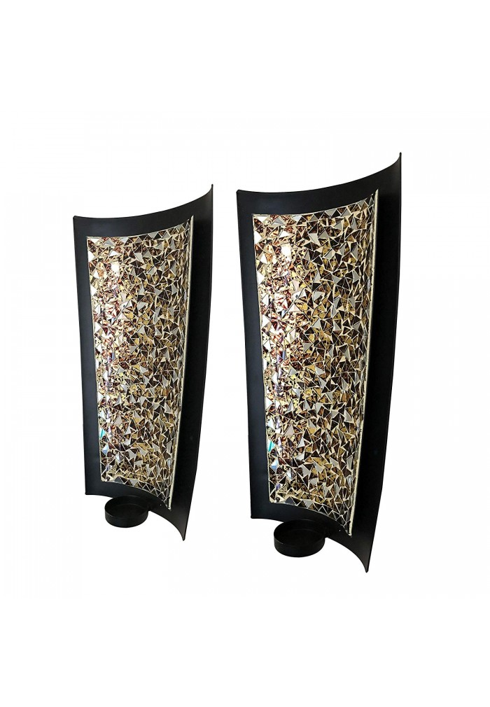 Buy Best DecorShore Golden Sands Mosaic Wall Sconces ... on Decorative Wall Sconces Candle Holders Chrome id=15584