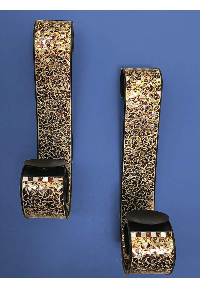 """Get Golden Sands """"Bella Palacio"""" Metal Wall Sconce, 23 In ... on Large Wall Sconces Candle Holders Decorative id=50778"""