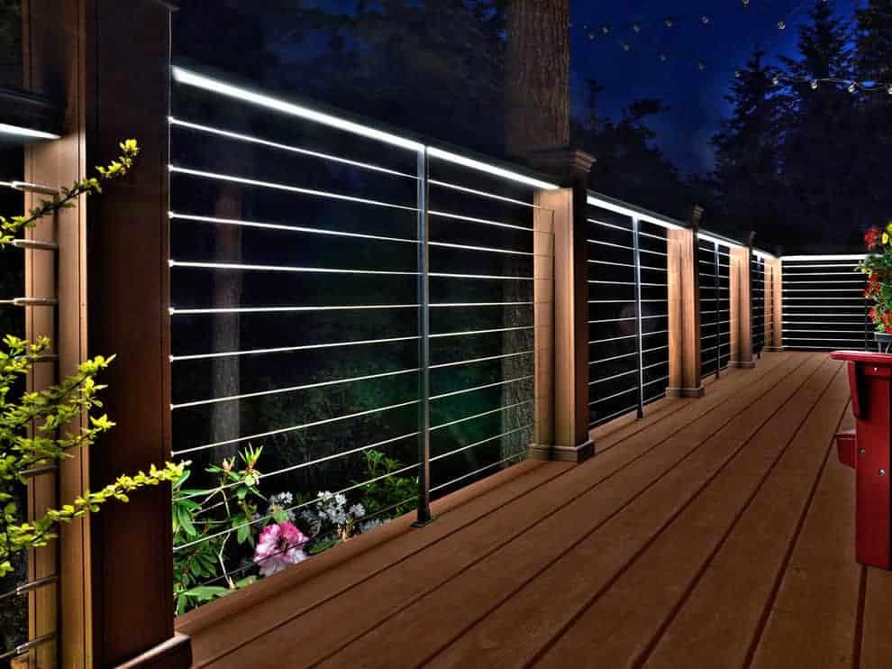 deck railing ideas for a modern outdoor