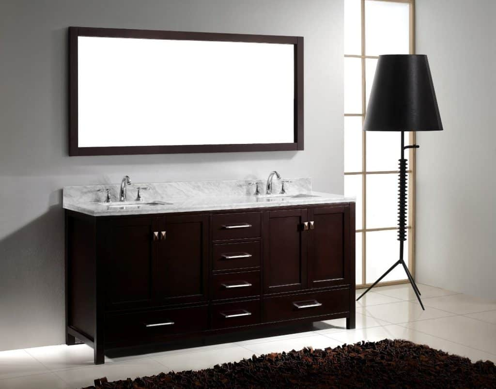 200  Bathroom Ideas  Remodel   Decor Pictures  Virtu USA GD 50072 WMSQ ES Caroline Avenue 72 Inch Bathroom Vanity