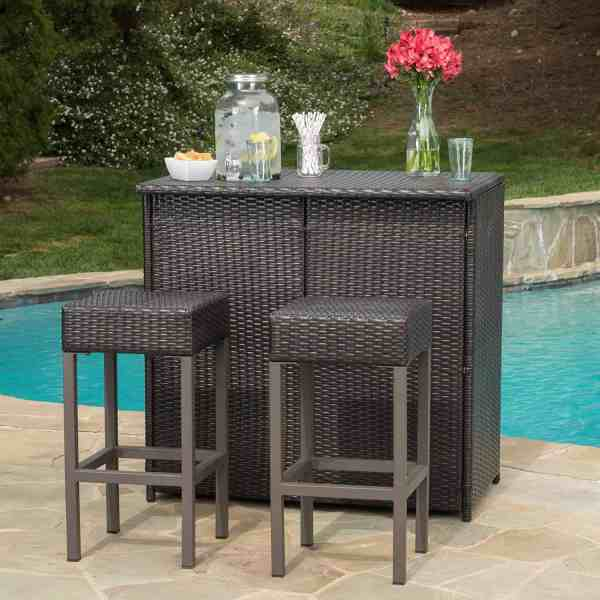 outdoor patio bar sets furniture 50 Tips & Ideas for Choosing Outdoor Wicker Furniture [PHOTOS]