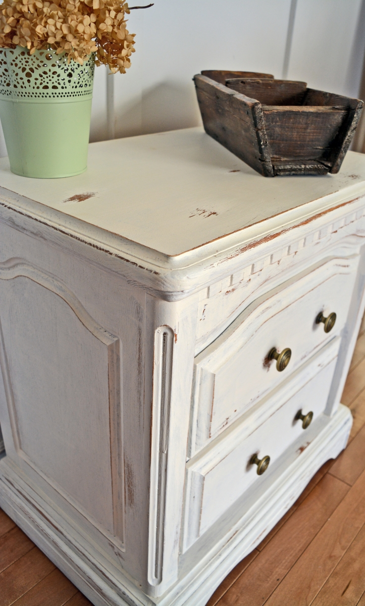 Bedside Night Tables White Shabby Chic Cream Off White