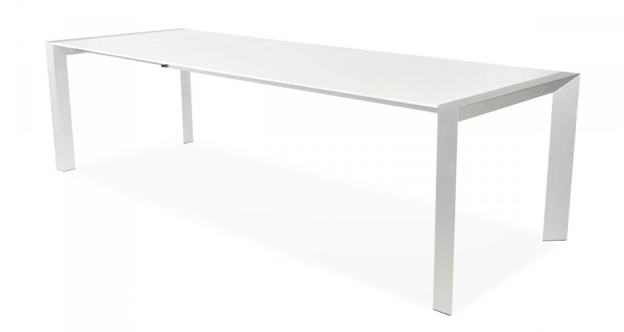 table extensible blanc laque 12 personnes domitille