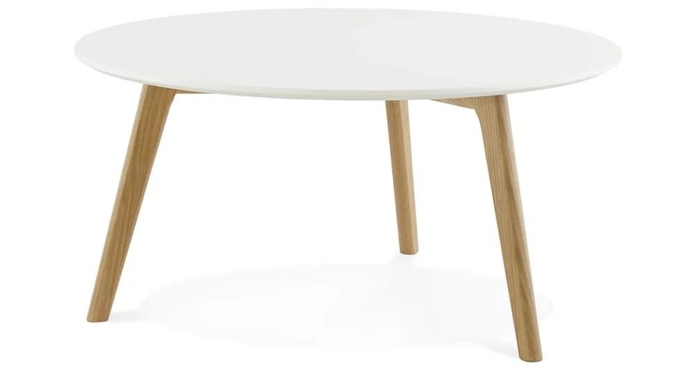 table basse ronde diametre 90 cm scandinave paloma